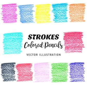 Elementos coloridos scribble stains projeto do vetor