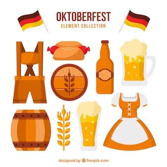 Elementos da festa da cerveja alemã