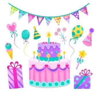 Elementos da festa de aniversário