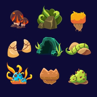 Elementos da floresta para o jogo