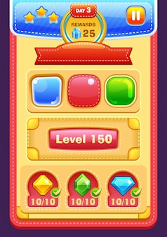 Elementos da interface do jogo