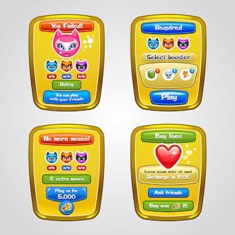 Elementos da interface do jogo. .