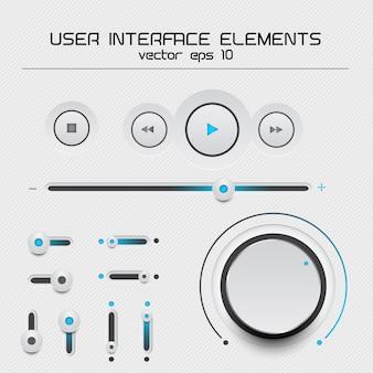 Elementos da interface do usuário da web