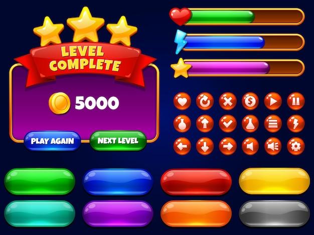 Elementos da interface do usuário do jogo