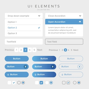 Elementos da interface do usuário web desing