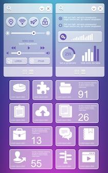 Elementos da interface do usuário.