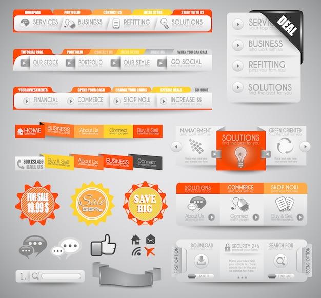 Elementos da web limpos de qualidade para blogs e sites.