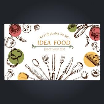 Elementos de alimentos do projeto do fundo
