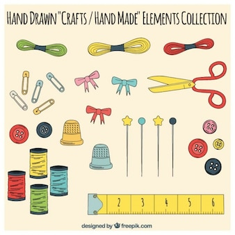 Elementos de artesanato, desenhado mão