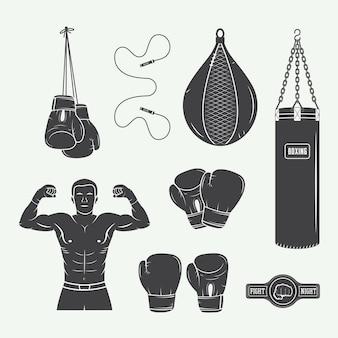 Elementos de boxe e artes marciais