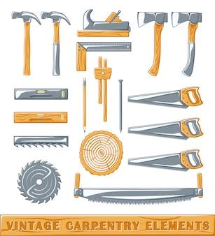 Elementos de carpintaria vintage