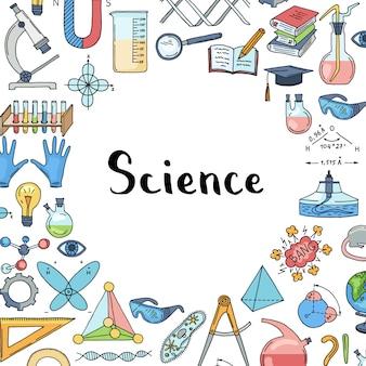 Elementos de ciência ou química esboçados