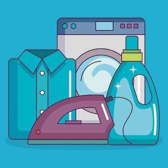 Elementos de conjunto de serviço de lavandaria