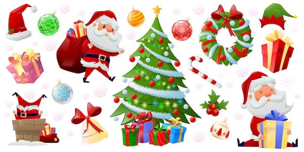 Elementos de cor de feliz natal