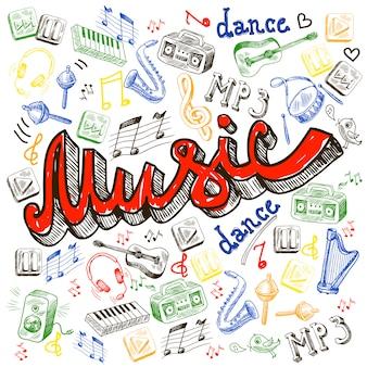 Elementos de cor de música