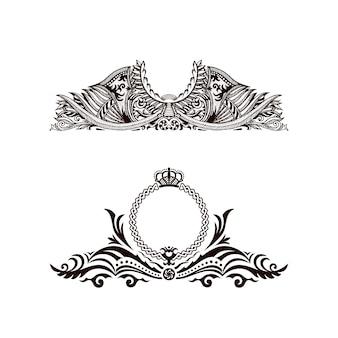 Elementos de decoração de logotipos de luxo