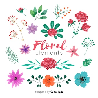 Elementos de decoração floral