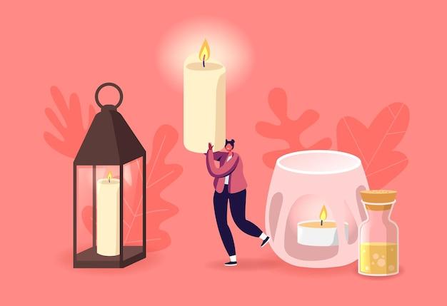 Elementos de decoração para casa, spa ou decoração de férias hygge