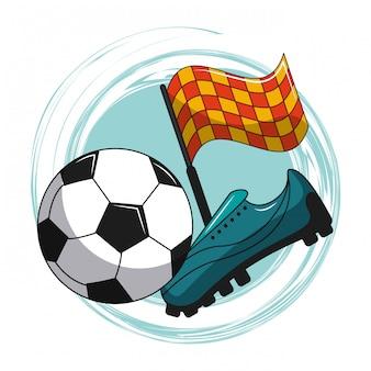 Elementos de desenhos animados de futebol