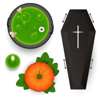 Elementos de design assustador para o halloween