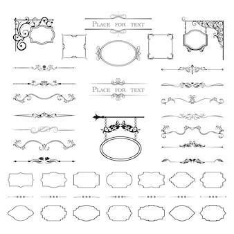 Elementos de design caligráfico.