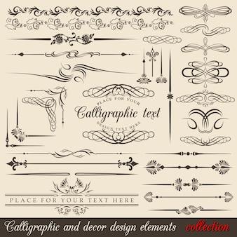 Elementos de design caligráfico