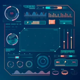 Elementos de design da interface da tecnologia velocity