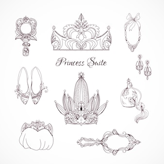 Elementos de design da princesa