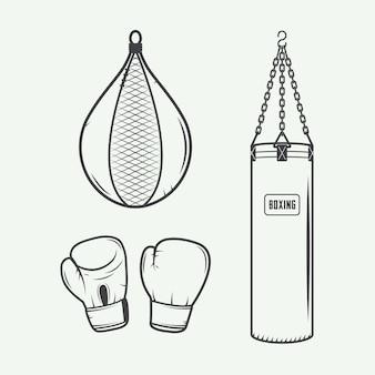 Elementos de design de boxe