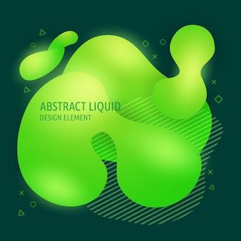Elementos de design de formas fluidas abstratas modernas