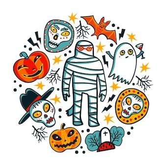 Elementos de design de halloween