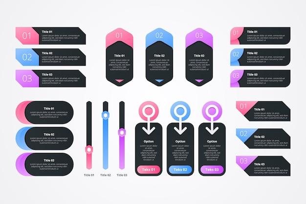 Elementos de design de infográfico Vetor grátis