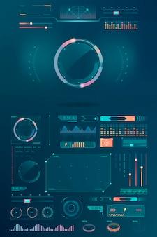 Elementos de design de interface de tecnologia