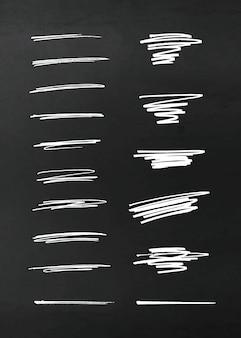 Elementos de design de lápis de vetor