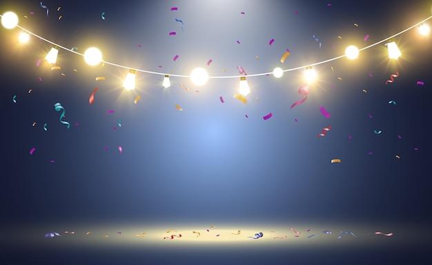 Elementos de design de lindas luzes brilhantes luzes brilhantes