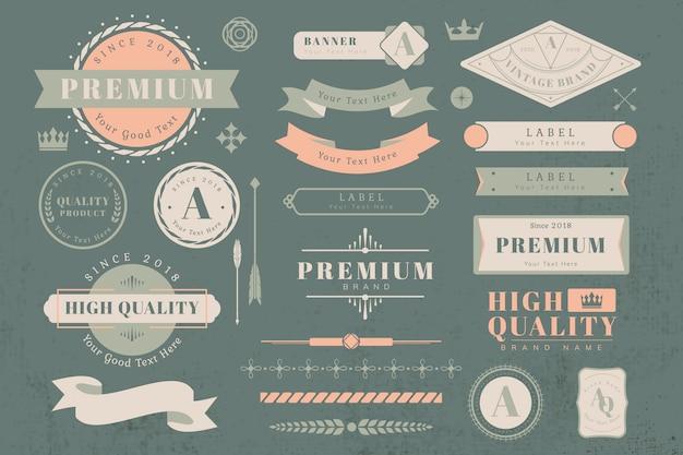 Elementos de design de logotipo e banner