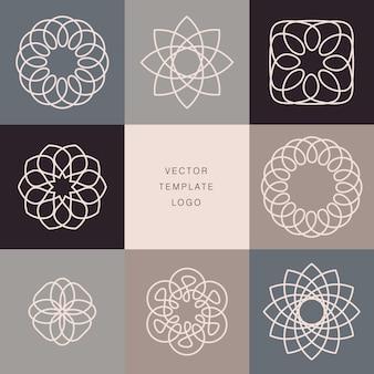 Elementos de design de logotipo lineart moderno