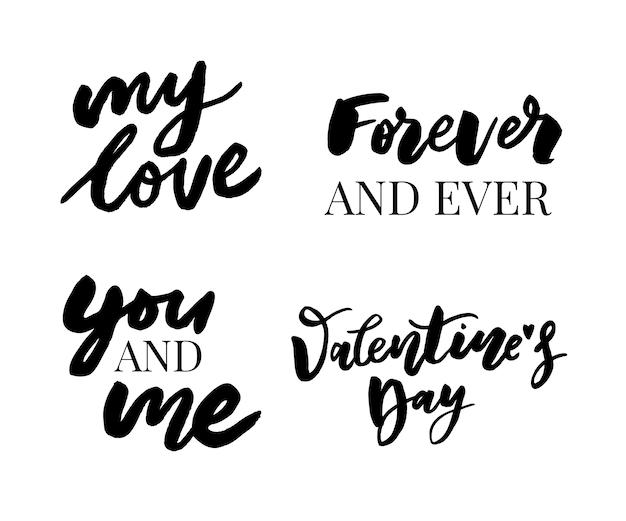Elementos de design dia dos namorados.