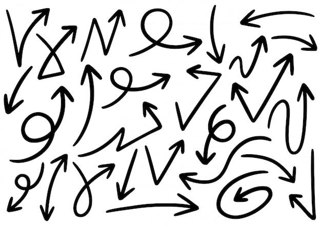 Elementos de design do doodle de mão desenhada.