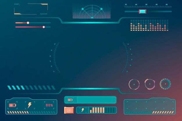 Elementos de design do modelo de interface de tecnologia