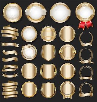 Elementos de design dourado de luxo