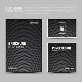 Elementos de design: folheto, cartão, banner.