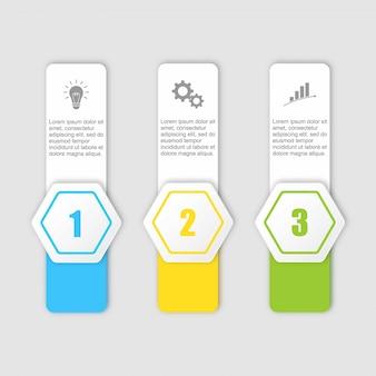 Elementos de design infográfico plana linha fina e números opções.