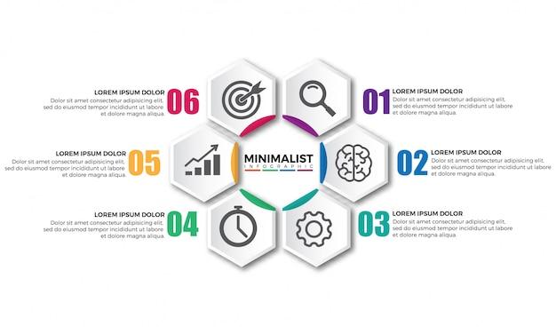 Elementos de design moderno infográfico circular