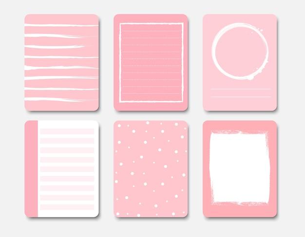 Elementos de design para notebook e diário