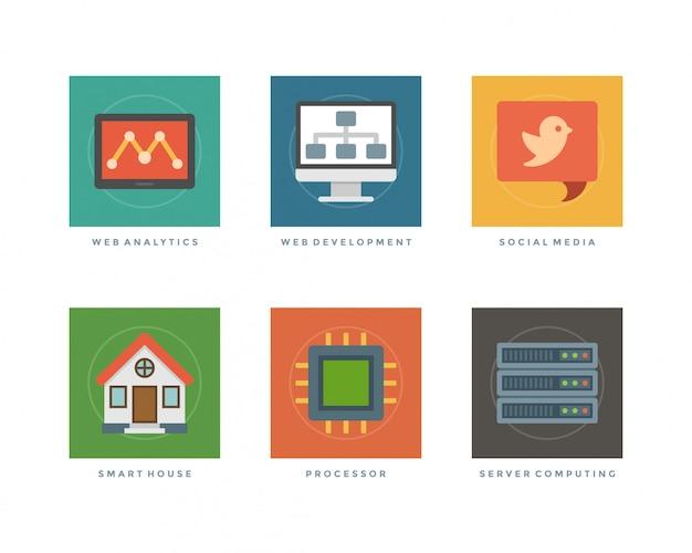 Elementos de design plano