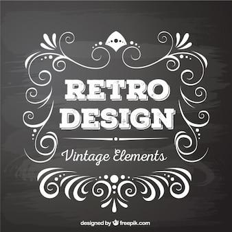 Elementos de design retro no estilo negro