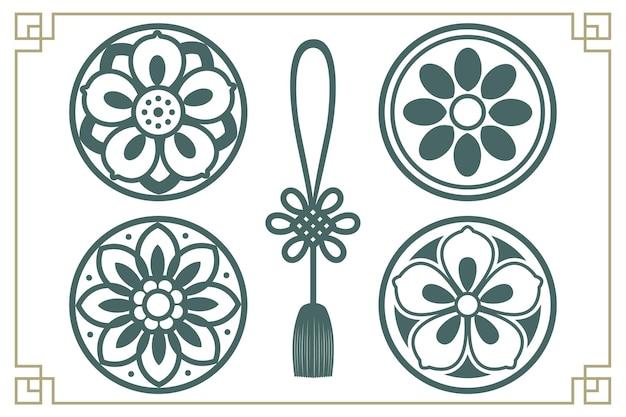 Elementos de design tradicional coreano