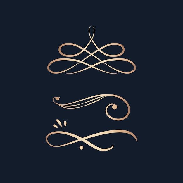 Elementos de design vintage redemoinho