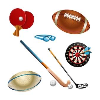 Elementos de diferentes esportes